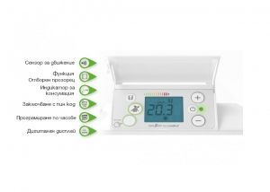 Конвектор AIRELEC Actua Smart Eco Control 1500